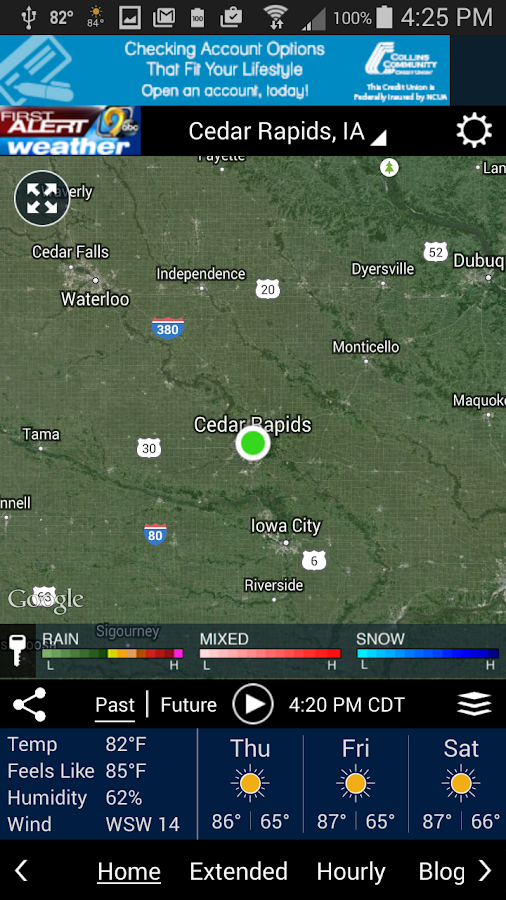 KCRG-TV9 First Alert Weather- screenshot