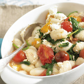 Gnocchi with Spinach and Tomatoes.