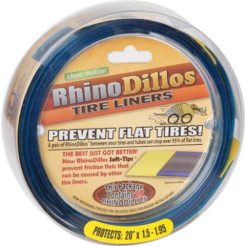 Rhinodillos Tire Liner: 20x1.5-1.95 Yellow, Pair