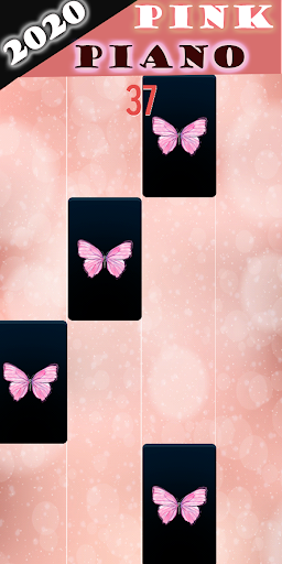 Pink Piano Tiles butterfly Game 2020 2 screenshots 1