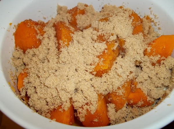 When done, drain the sweet potatoes and place them in a baking dish. Preheat...