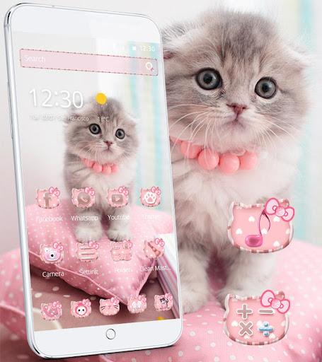 Pink Cute Kitty Cat Theme  screenshots 1