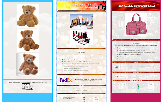 Ebay template generator chrome web store e bay template listing generator in few minutes pronofoot35fo Choice Image