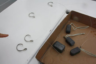 Photo: circle hook for halbit and some weight as the halibut are way down at the bottom'