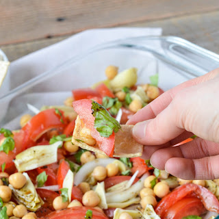 Tomato, Onion, and Artichoke Chickpea Salad