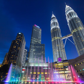 KLCC by Shahrin Ayob - Buildings & Architecture Office Buildings & Hotels ( klcc, blue, hour, kuala lumpur, malaysia, twin, tower )