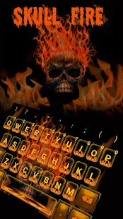 Skull Flaming Fear Keyboard - náhled