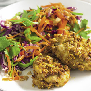 Roast Satay Chicken with Vegetable Slaw.