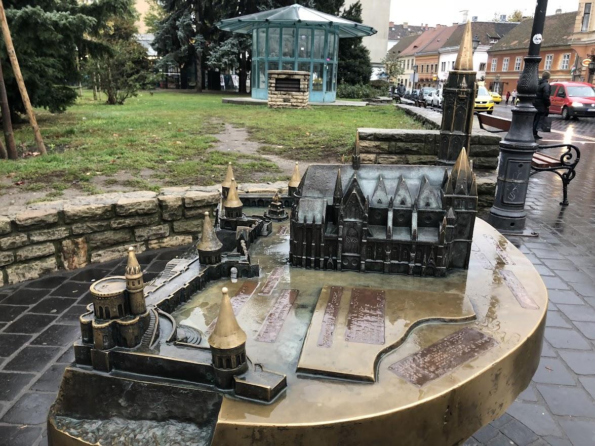 Model of Matthias Church and Fisherman's Bastion