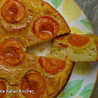 Gluten free soft Apricot Yogurt Cake
