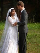 Photo: David & Suzane at the wedding reception at Phulbani.