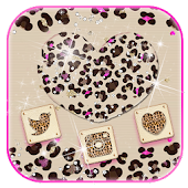 Diamond leopard love Theme gold leopard print