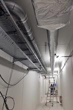 Photo: Couloir technique #datacenter #reims (Visite de chantier 13.11.2014)