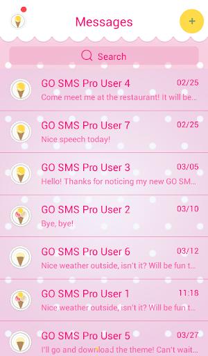 GO SMS Proのキャンディ
