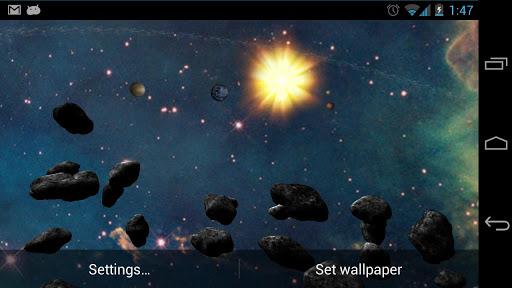 Asteroid Belt Live Wallpaper screenshot 4
