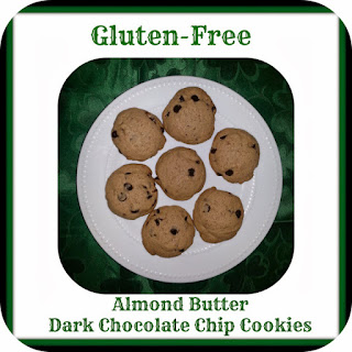 Gluten ~ Free Almond Butter Dark Chocolate Chip Cookies