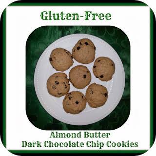 Gluten ~ Free Almond Butter Dark Chocolate Chip Cookies.