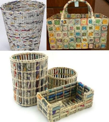 42 simple newspaper craft - photo #27