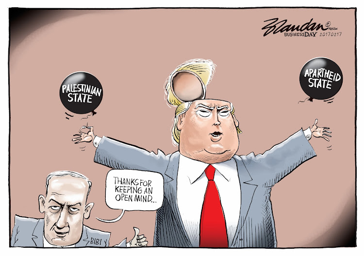 Image result for CARTOONS NETANYAHU AND TRUMP