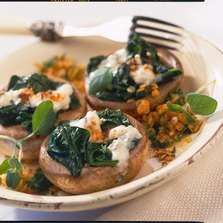 Stuffed Mushrooms with Lentils and Gorgonzola