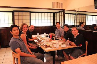 Photo: Prof. Kohidai, Dr. Lang, Dalhyung, Sean, U Kei, and Prof. Kim (left to right) at Hanwool