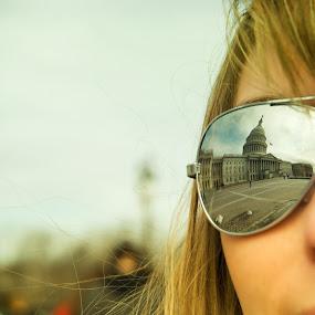 U.S. Capital sunglasses reflection by T.J. Wolsos - People Street & Candids ( pwcsunglasses, us capitol building, washington dc, sunglasses )