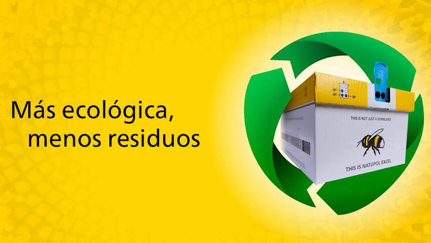 Colmenas Natupol de Koppert incluyen un 85% de materiales reciclados y renovables