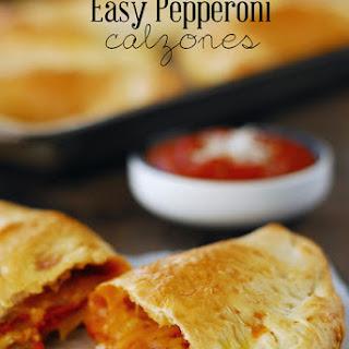 Easy Pepperoni Calzone.