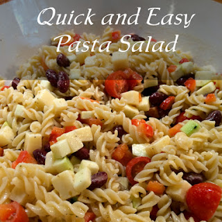 Quick and Easy Pasta Salad.