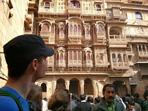 Photo: Checking out the intricately carved Havelis,