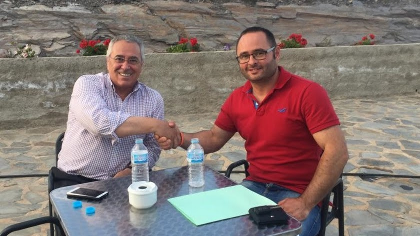 Imagen de archivo de Guijarro y Mateo, tras las elecciones municipales.