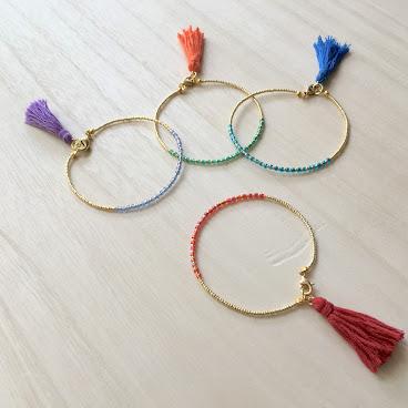 手作日本玻璃珠手鏈
