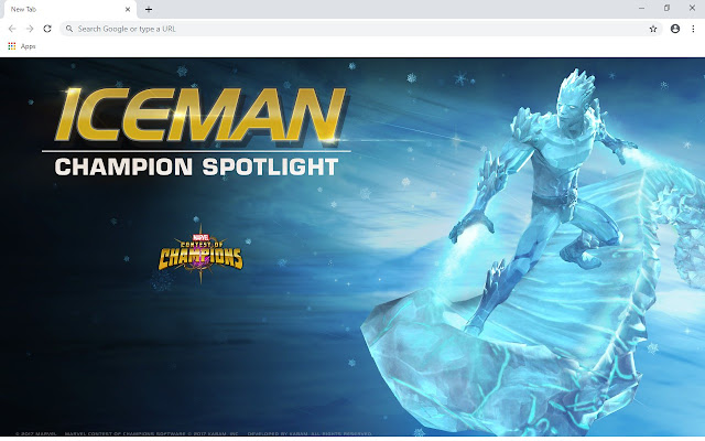 Iceman New Tab & Wallpapers Collection