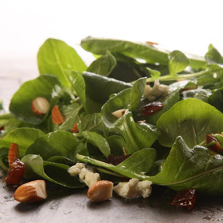 Watercress and Arugula Salad with Blue Cheese, Dates, and Almonds
