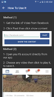 My FB Videos Downloader - náhled