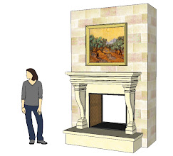 Photo: an early version of the bedroom with a Francois & Co. Delfine mantel