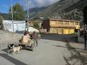 Photo: Tibetan horse cart in Nyalam