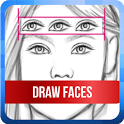 Tutorial Drawing 2D Face Step By Step icon