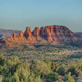 Cocks Comb by Charlie Alolkoy - Landscapes Mountains & Hills ( mountain, arizona, sedona, desert, morning )