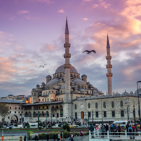 Yeni Cami | Istanbul  by Pavel Aberle - Buildings & Architecture Public & Historical ( urban, islam, metropolis, autumn, exterior, mosque, street, architecture, turkey, istanbul, sacred )