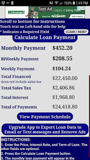 Auto Car Loan Payment Calculator Free Download Apk Free For Android Apktume Com