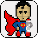 Superhero Coloring : Color By Number icon
