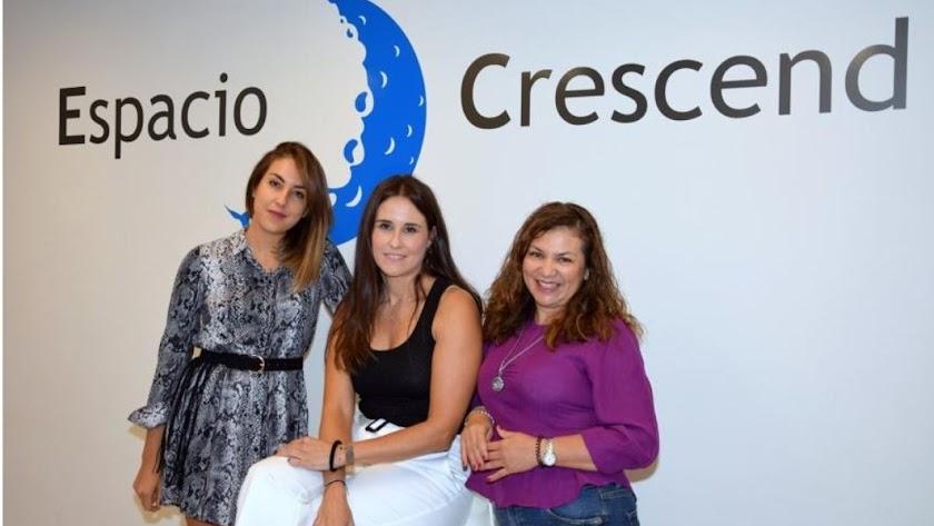Impulsoras del programa: Montse, Aitana y Claudia .