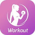 Workout for Women. Female fitness training at home icon