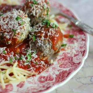 Homemade Italian Meatballs.