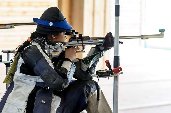 Indian Shooters Gayathari Nithyanadam Shooting