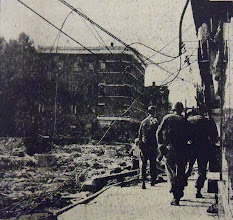 Photo: National Guard members patrolled Winsted streets after martial law was declared.
