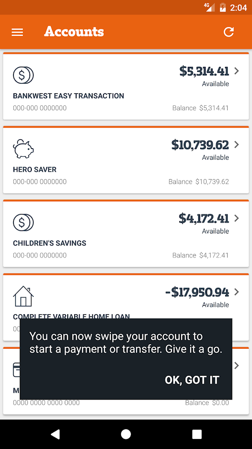 Bankwest- screenshot