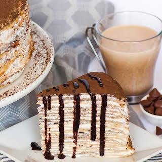 Tiramisu Crepe Cake.
