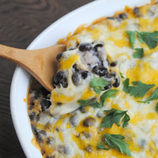 Cheesy Baked Black Beans & Rice ~ Cinco de Mayo Side Dish.